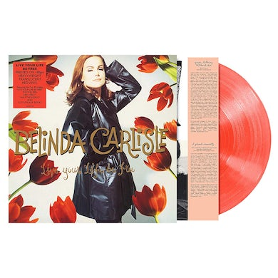 Belinda Carlisle LIVE YOUR LIFE BE FREE - Limited Edition 180 Gram Peach Colored Vinyl Record