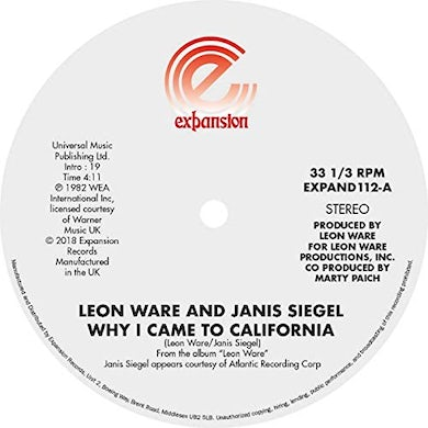 Leon Ware WHY I CAME TO CALIFORNIA / CAN I TOUCH YOU THERE Vinyl Record