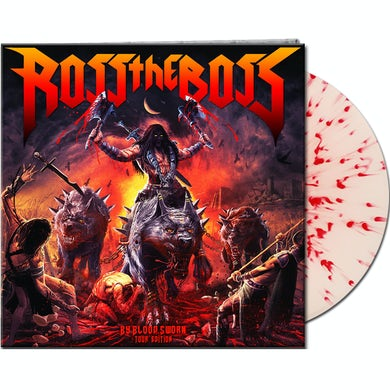 Ross The Boss BY BLOOD SWORN (TOUR EDITION) - Limited Edition White w/ Red Blood Splatter Colored Vinyl Record