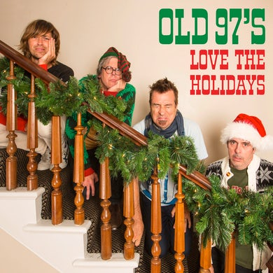 Old 97's LOVE THE HOLIDAYS - Limited Edition Red & White Colored Vinyl Record