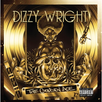 Dizzy Wright THE GOLDEN AGE - Gold Colored Double Vinyl Record