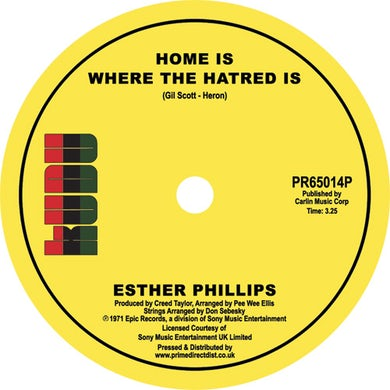 Esther Phillips HOME IS WHERE THE HATRED IS / I'VE NEVER FOUND A Vinyl Record