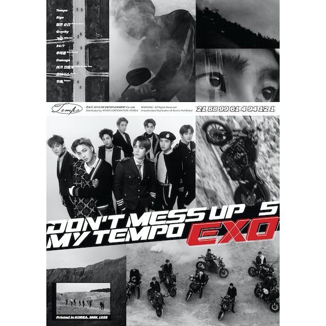 EXO THE 5TH ALBUM 'DON'T MESS UP MY (ALLEGRO VER.) CD
