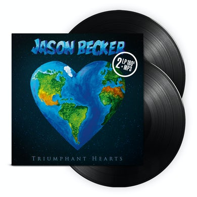 Jason Becker TRIUMPHANT HEARTS Vinyl Record