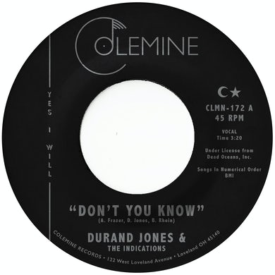 Durand Jones & The Indications DON'T YOU KNOW Vinyl Record