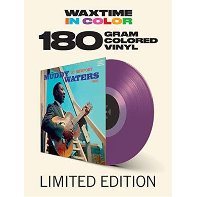 Muddy Waters AT NEWPORT 1960 Vinyl Record - Colored Vinyl, 180 Gram Pressing, Purple Vinyl, Spain Release