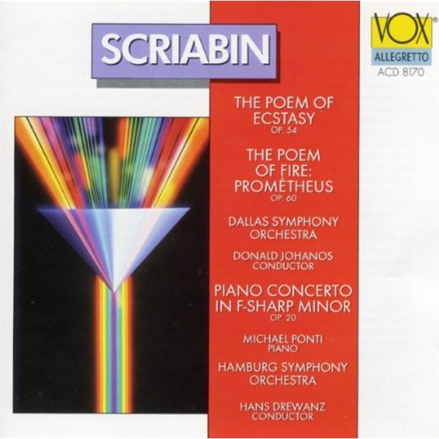 Scriabin SYMPHONIES 4 & 5 CD