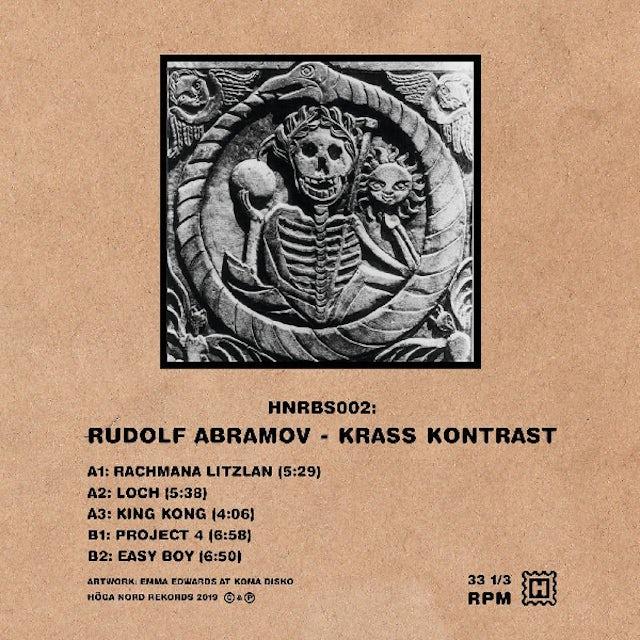Rudolf Abramov KRASS KONTRAST Vinyl Record