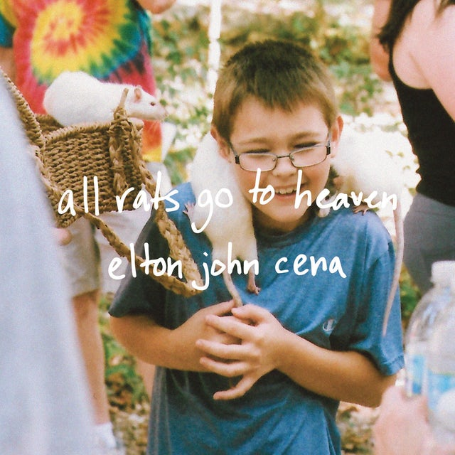 Elton John Cena ALL RATS GO TO HEAVEN Vinyl Record