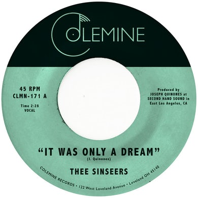 Thee Sinseers IT WAS ONLY A DREAM Vinyl Record