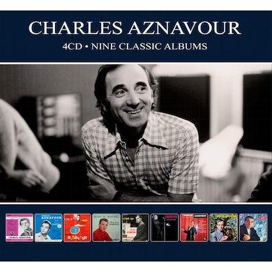 Charles Aznavour NINE CLASSIC ALBUMS CD