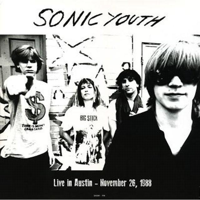 Sonic Youth LIVE IN AUSTIN NOVEMBER 26 1988 Vinyl Record