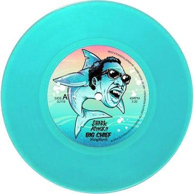 Shark Attack!! BIG CHIEF / BAMBOULA (AQUA BLUE VINYL) Vinyl Record