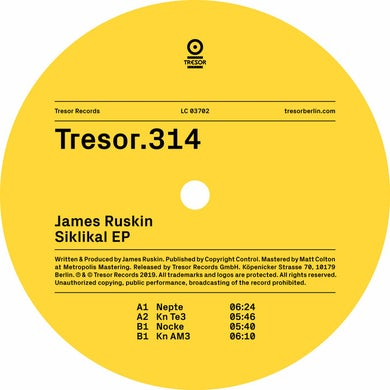 James Ruskin SIKLIKAL Vinyl Record