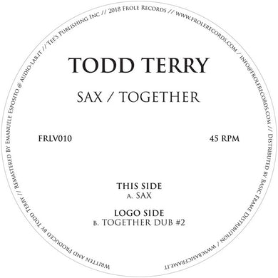 Todd Terry SAX / TOGETHER Vinyl Record