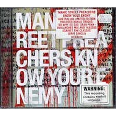 Manic Street Preachers KNOW YOUR ENEMY CD