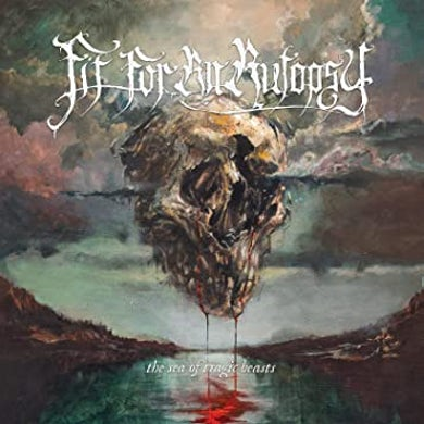 Fit For An Autopsy THE SEA OF TRAGIC BEASTS (RED/BLUE SPLATTER) Vinyl Record