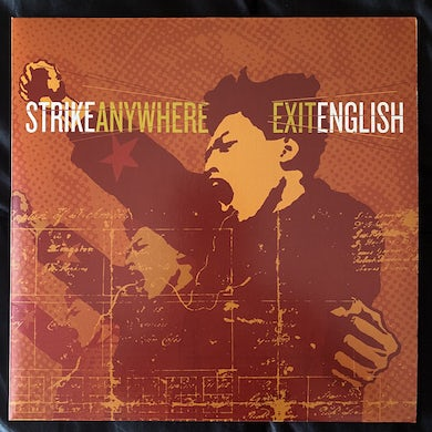 Strike Anywhere EXIT ENGLISH (CLEAR WITH BLACK VINYL) Vinyl Record