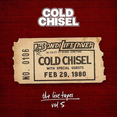 Cold Chisel LIVE TAPES 5: LIVE AT BONDI LIFESAVER FEB 29 1980 CD