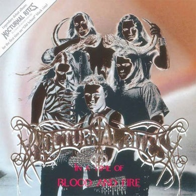 Nocturnal Rites IN A TIME OF BLOOD & FIRE Vinyl Record