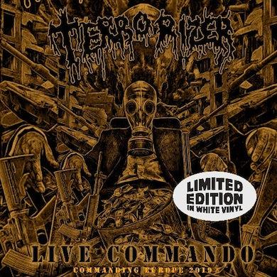 Terrorizer LIVE COMMANDO (WHITE VINYL) Vinyl Record