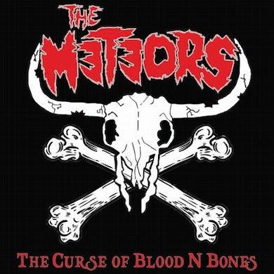 The Meteors CURSE OF BLOOD N BONES (RED VINYL) Vinyl Record