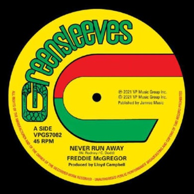Freddie Mcgregor NEVER RUN AWAY Vinyl Record