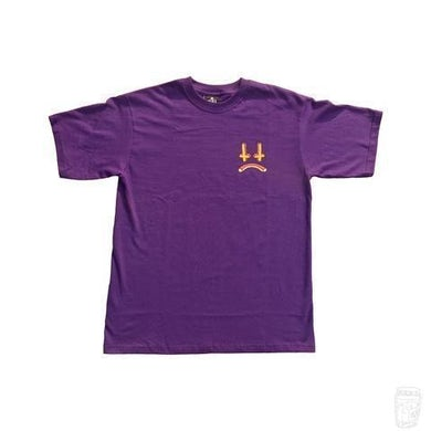 Lee Scott 'Cross Face' 3D T-Shirt (Eggplant Purple)
