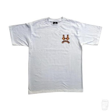 Lee Scott 'Cross Face' 3D T-Shirt (White)