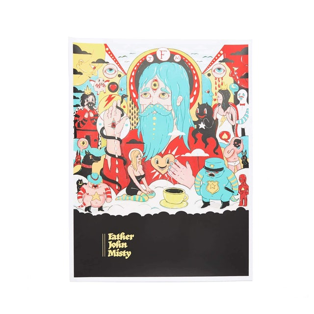 Father John Misty 'Fear Fun' Screen Printed Poster