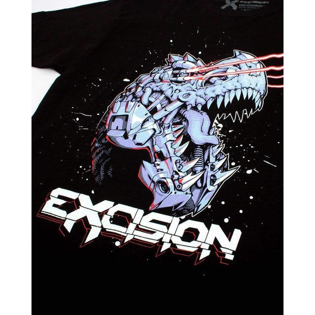 Excision 'Cyborg Rex' Unisex T-Shirt - Black/Red