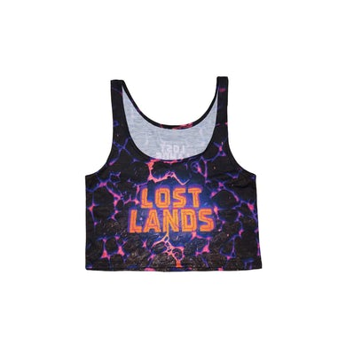 Excision Lost Lands 'Magma' Women's crop Top (Nebula)