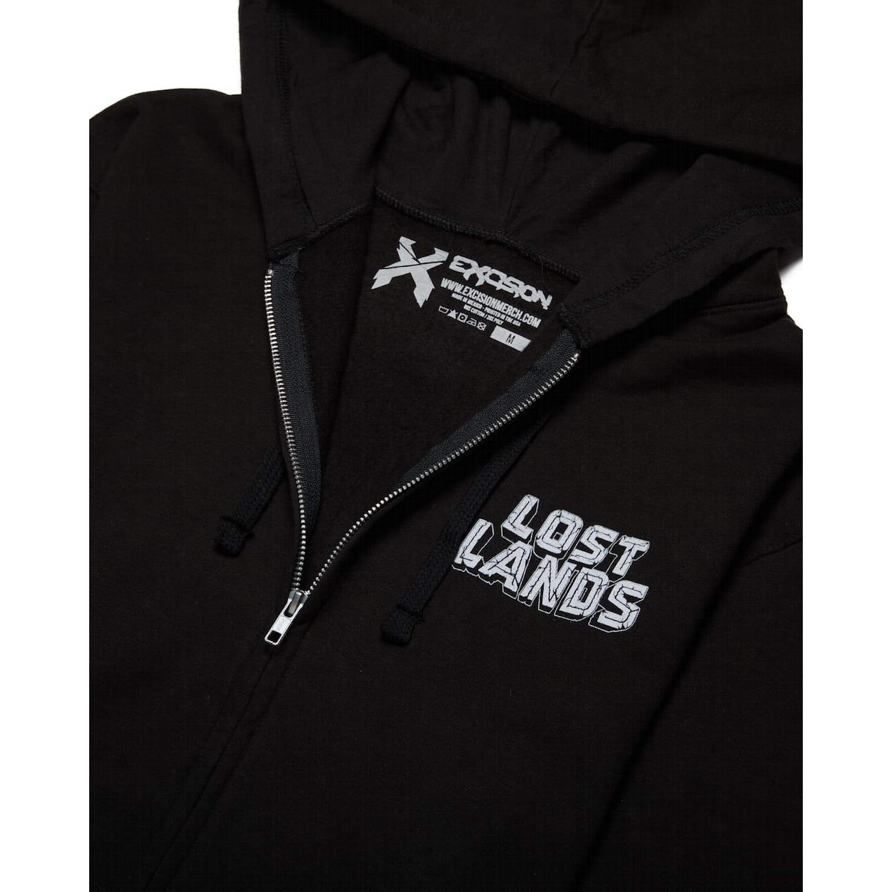f6f420e66 Excision Lost Lands 2018 Lineup Full-Zip Hoodie - Black/White