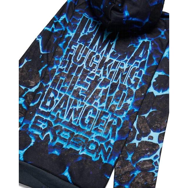 Excision' Headbanger' Hoodie - Lost Lands Edition - Blue