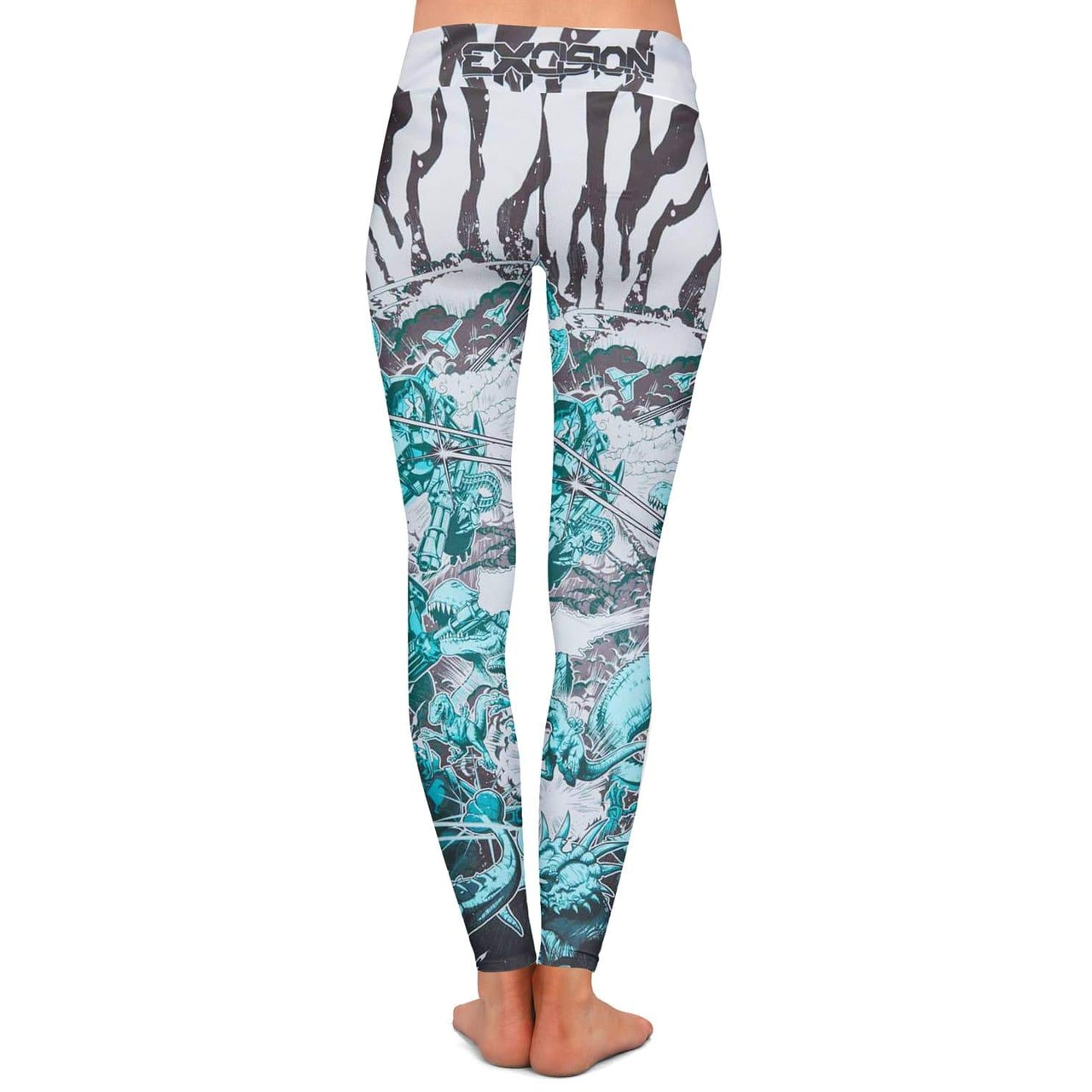 cf1a4d6f027e4 Excision 'Dino vs. Robot' Leggings - Teal. Touch to zoom
