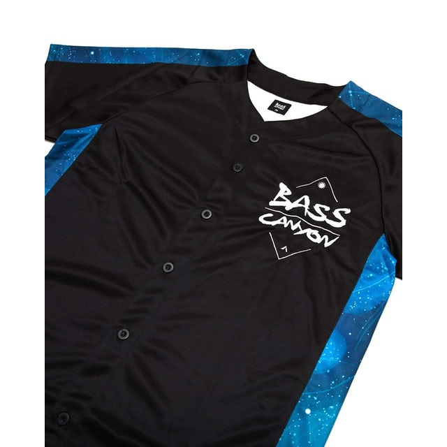 Excision 'Bass Canyon' Baseball Jersey - Black/Blue
