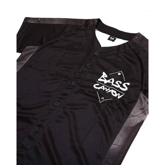 Excision 'Bass Canyon' Baseball Jersey - Black/Black
