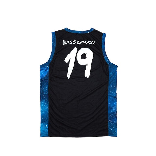 Excision 'Bass Canyon' Basketball Jersey - Black/Blue