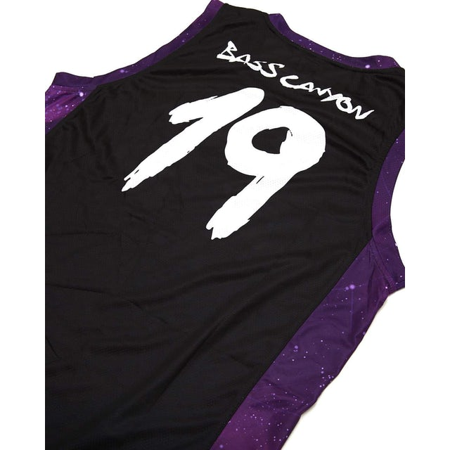 Excision 'Bass Canyon' Basketball Jersey - Black/Purple