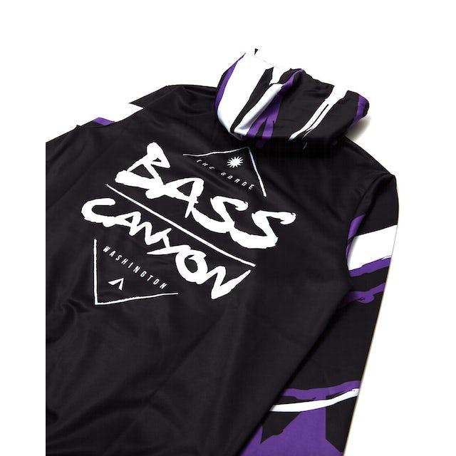 Excision Bass Canyon 'Swirls' Hoodie - Black/Purple/White