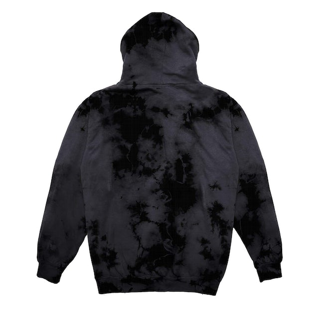 Excision Official Lost Lands Tie Dye Pull Over Hoodie - GreyBlack