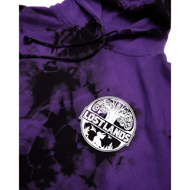 Excision Official Lost Lands Tie Dye Pull Over Hoodie - Purple