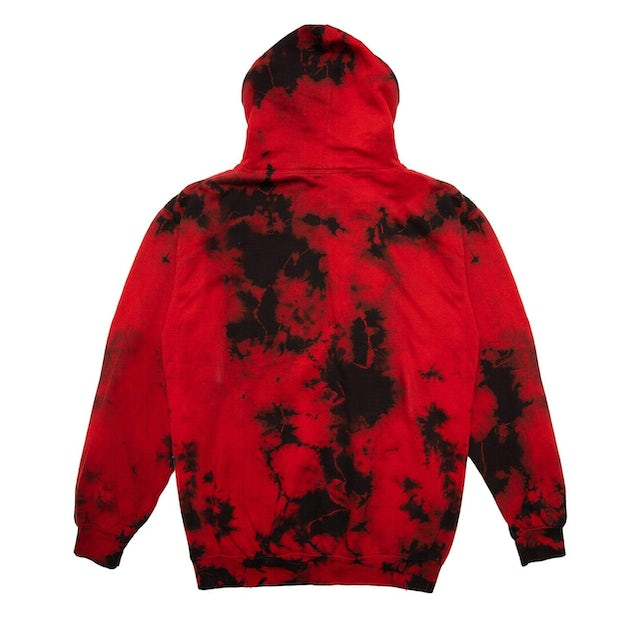 Excision Official Lost Lands Tie Dye Pull Over Hoodie - Red