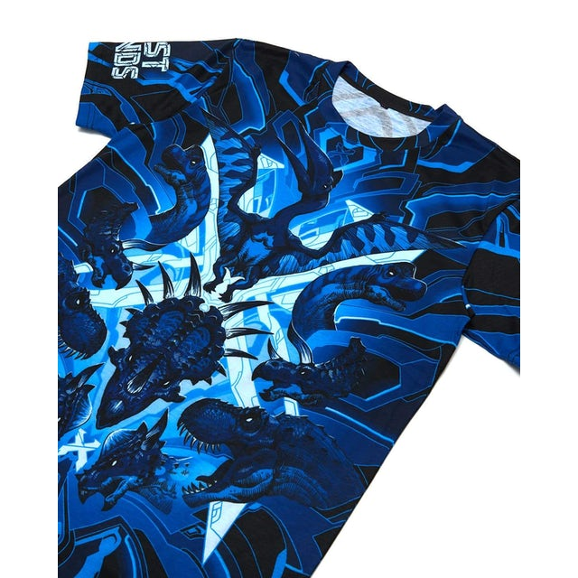 Excision 'DinoX' Dye Sub Tee - Blue