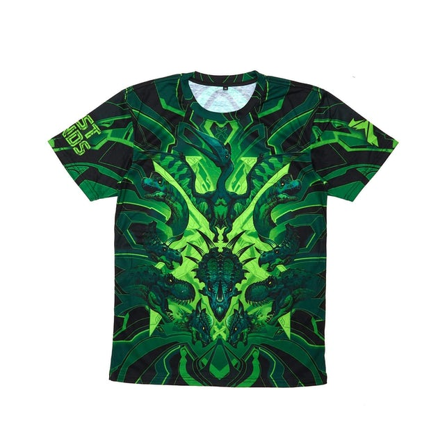 Excision 'DinoX' Dye Sub Tee - Green