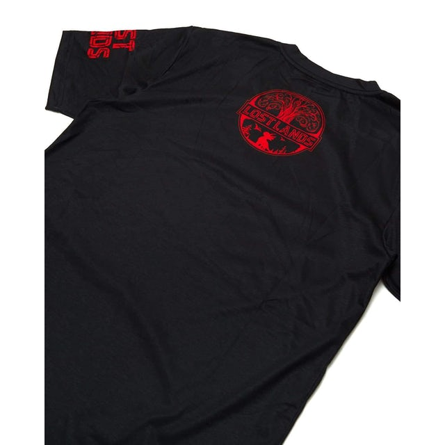 Excision 'Triceratops' Dye Sub Tee - Black/Red