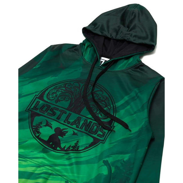 Excision Official Lost Lands 2019 Line Up Dye Sub Hoodie - Green/Black