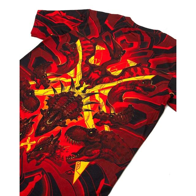 Excision 'DinoX' Dye Sub Tee - Red