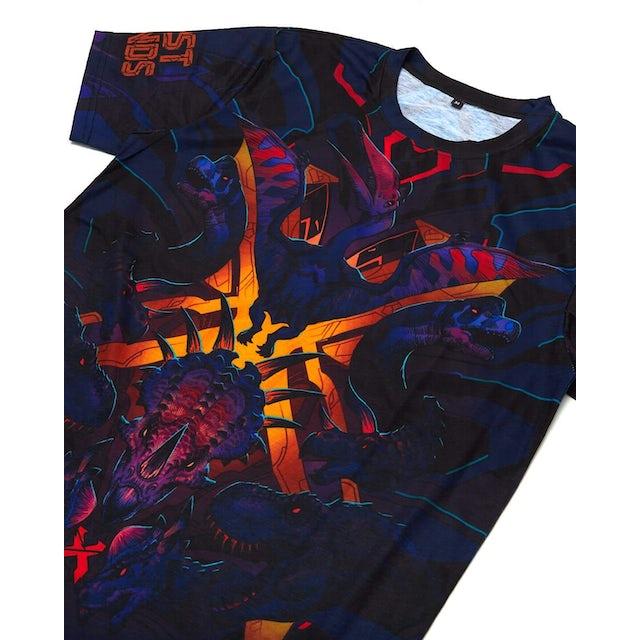 Excision 'DinoX' Dye Sub Tee - Neon Sherbert
