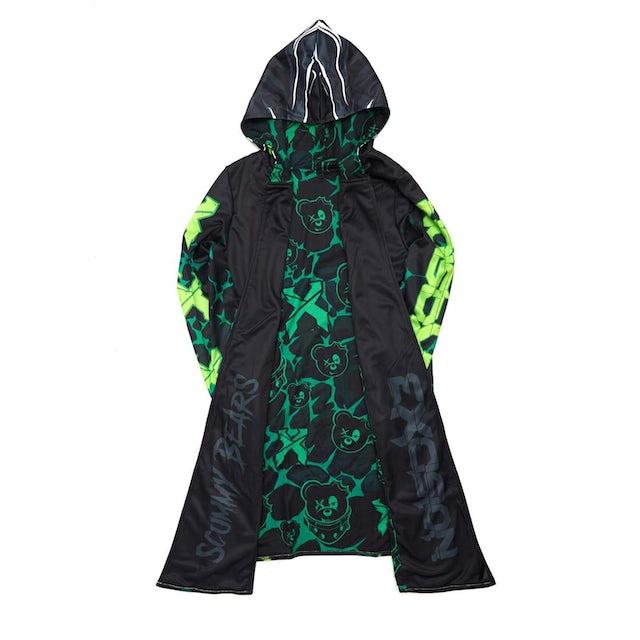 Excision x Scummy Bears Dye Sub Cloak - Green